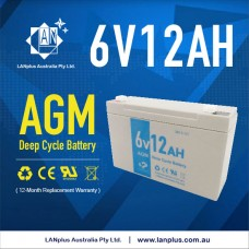 LANplus 6V 12AH SLA battery