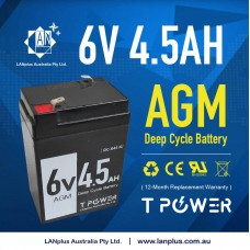 6V 4.5AH AGM SLA  Rechargeable Battery