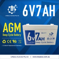 LANplus 6V 7AH SLA Battery