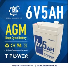 T power 6V 5AH SLA AGM battery