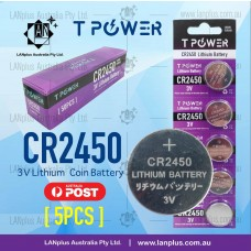5 x CR2450 3V Lithium Battery STOCK IN Melbourne Button Coin Cell CR-2450