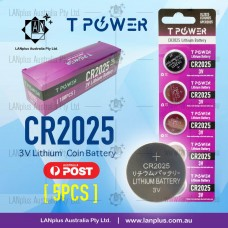 5x CR2025 3V Lithium Battery STOCK IN Melbourne Button Coin Cell DL2025 ECR2025