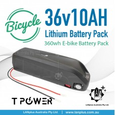 36V 10Ah Tpower Li-ion Lithium Battery Pack Hailong f 350W-500W Motor E-bike ebike battery